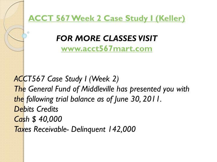 ACCT 567 Week 2 Case Study I (Keller)