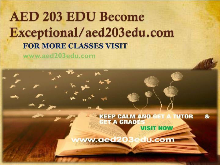 Aed 203 edu become exceptional aed203edu com