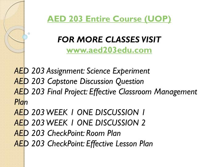 AED 203 Entire Course (UOP)