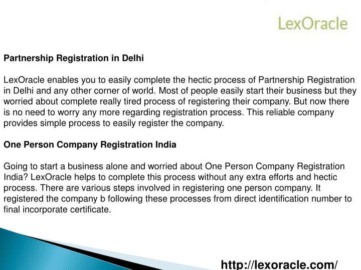 Partnership Registration in Delhi