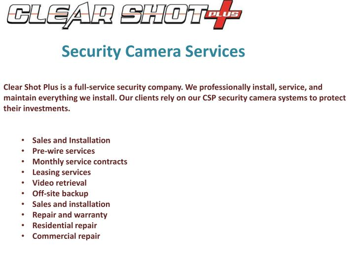 Security Camera Services