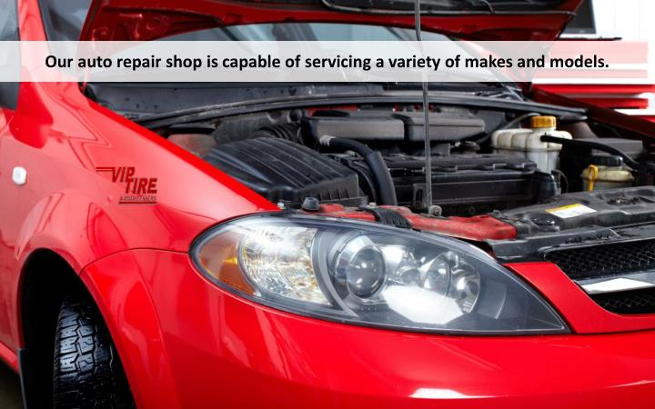 Our auto repair shop is capable of servicing a variety of makes and models.