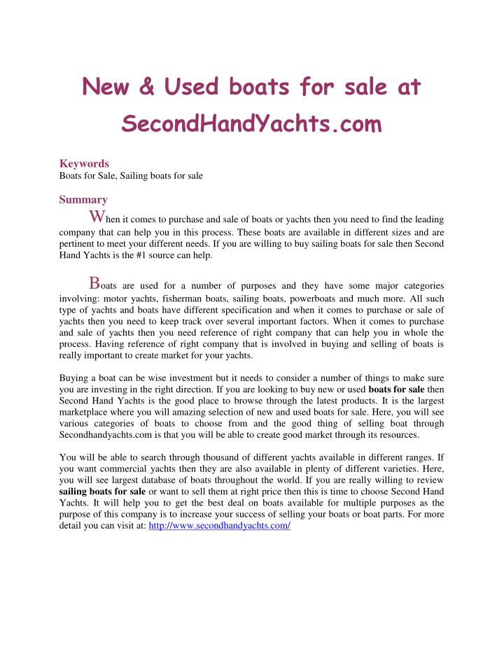 New & Used boats for sale at