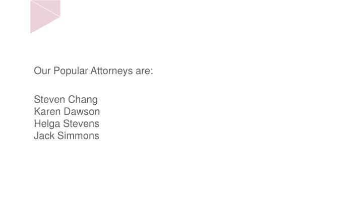 Our Popular Attorneys are: