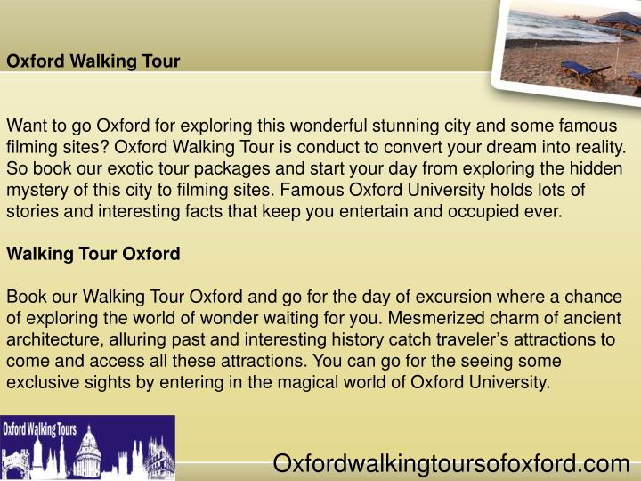 Oxford Walking Tour