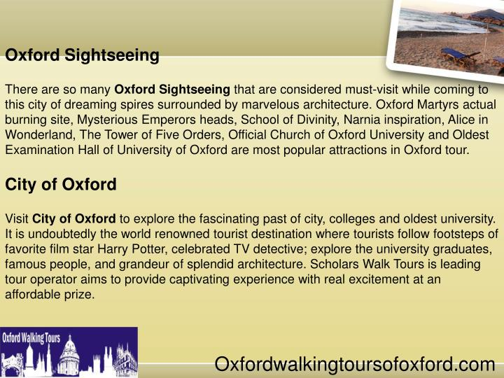 Oxford Sightseeing