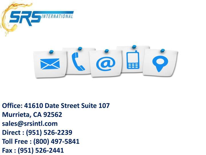 Office: 41610 Date Street Suite 107