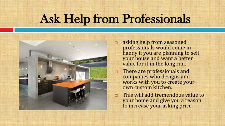Ask Help from Professionals