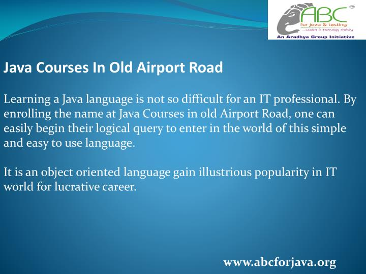 Java Courses In Old Airport