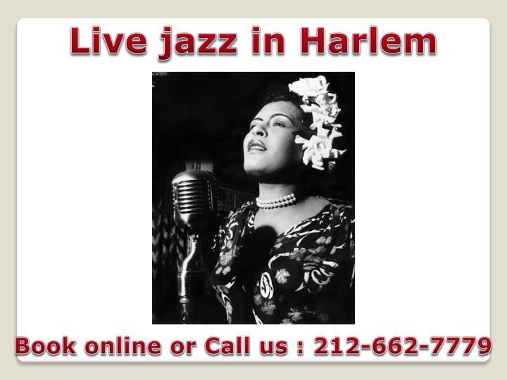 Live jazz in Harlem