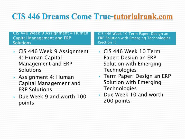 CIS 446 Dreams Come True