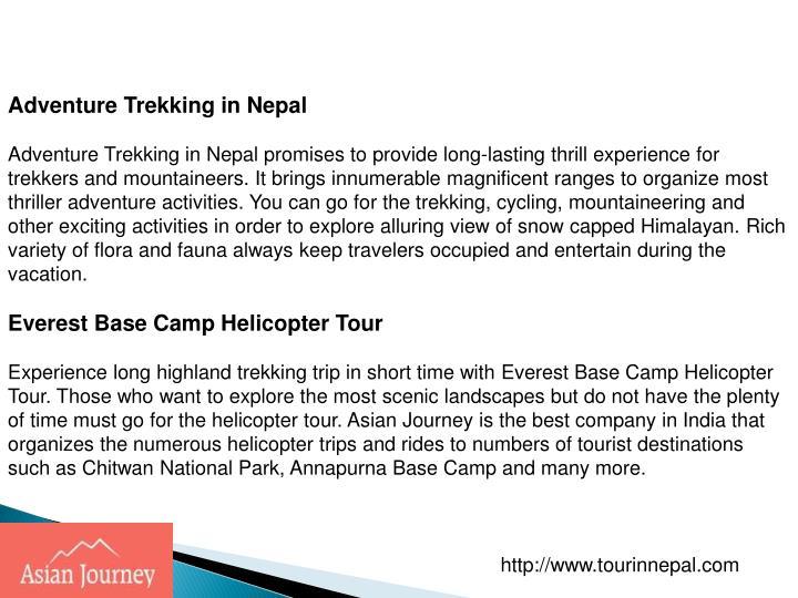 Adventure Trekking in Nepal