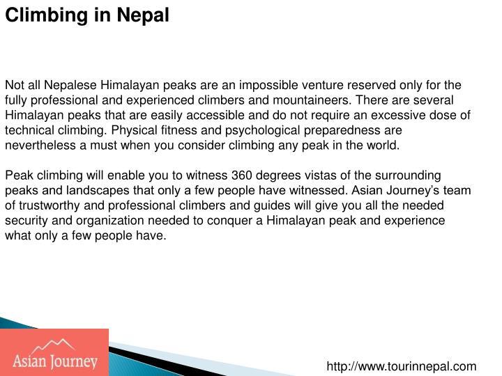 Climbing in Nepal