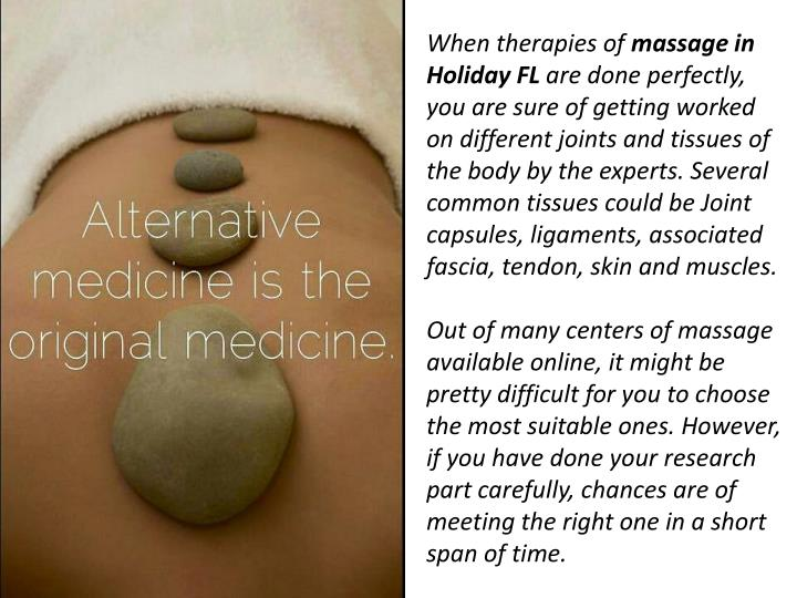 When therapies of