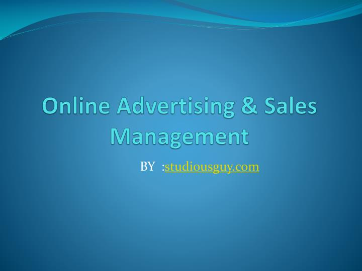 Online advertising sales management