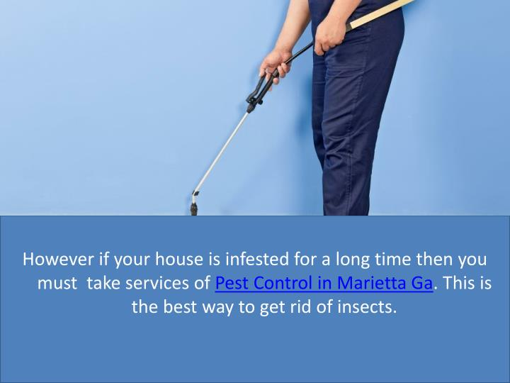 However if your house is infested for a long time then you must  take services of