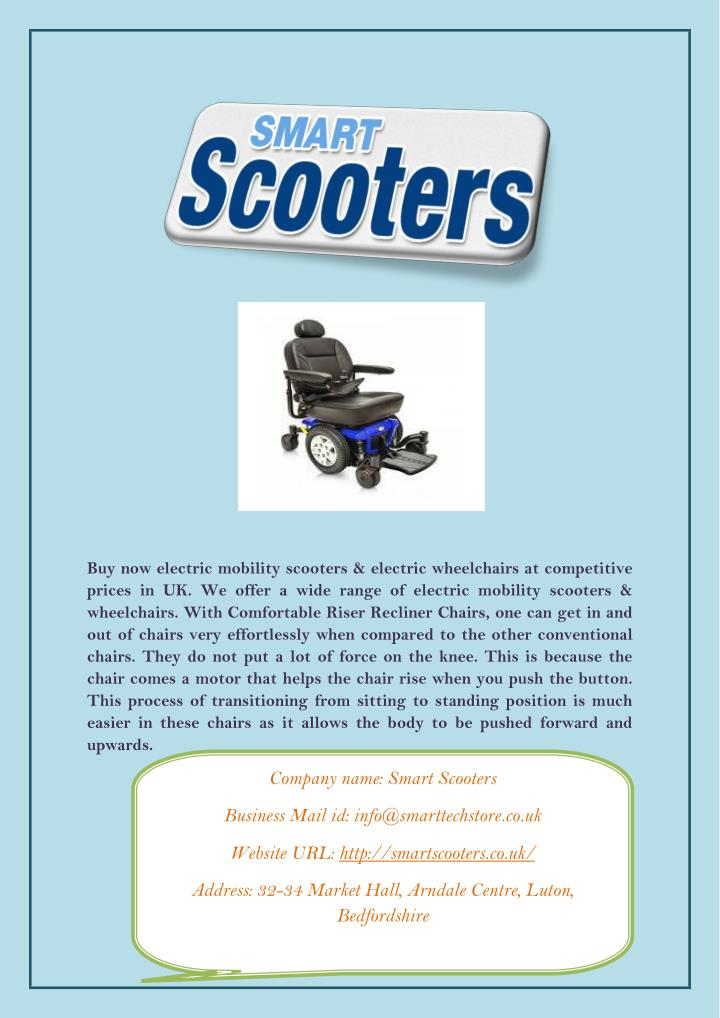 Buy now electric mobility scooters & electric wheelchairs at competitive