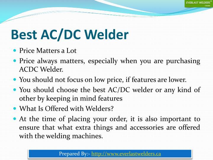 Best AC/DC Welder