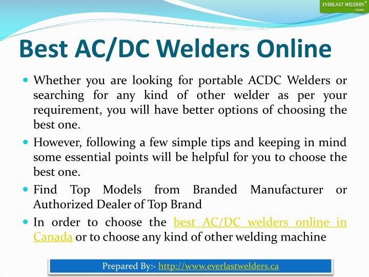 Best AC/DC Welders Online