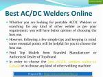 best ac dc welders online