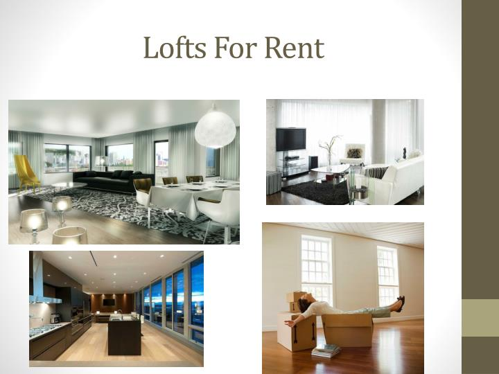 Lofts For Rent