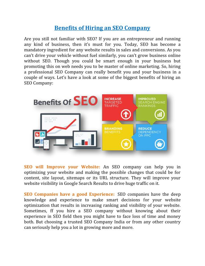 Benefits of Hiring an SEO Company