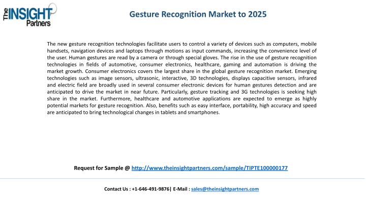 Gesture Recognition Market to 2025