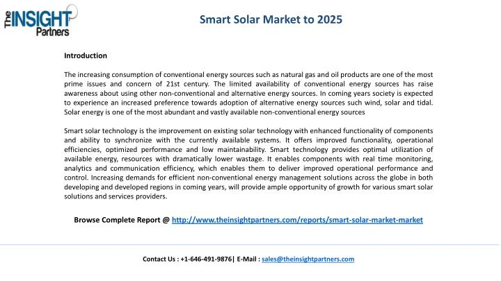 Smart Solar Market to 2025