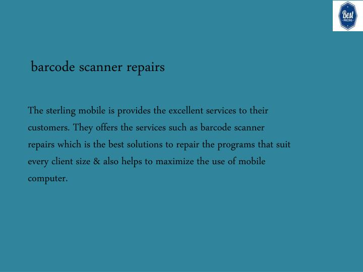 barcode scanner repairs