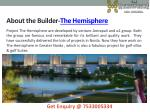 about the builder the hemisphere