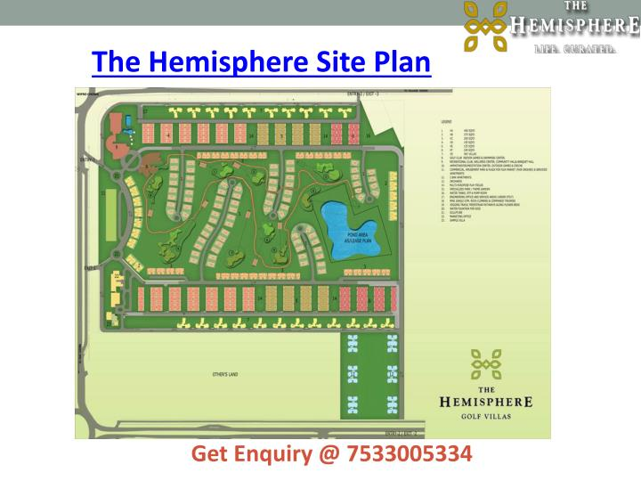 The Hemisphere Site Plan