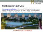 the hemisphere golf villas