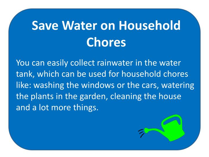 Save Water on Household