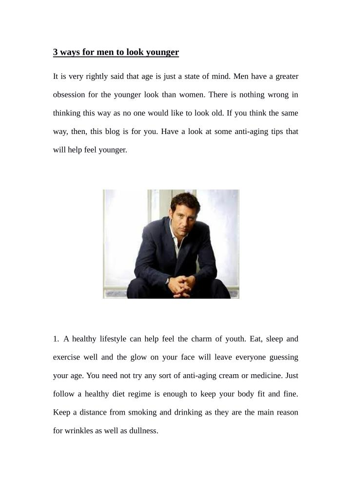 3 ways for men to look younger