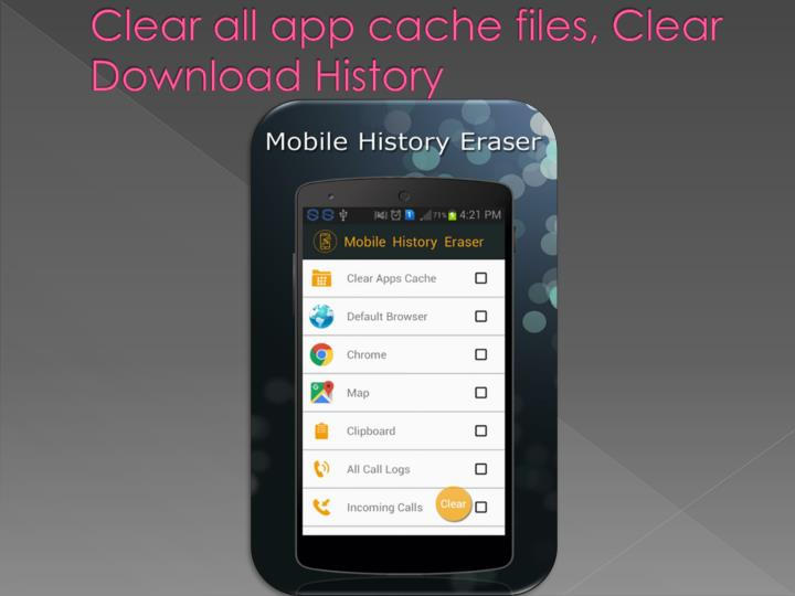 Clear all app cache