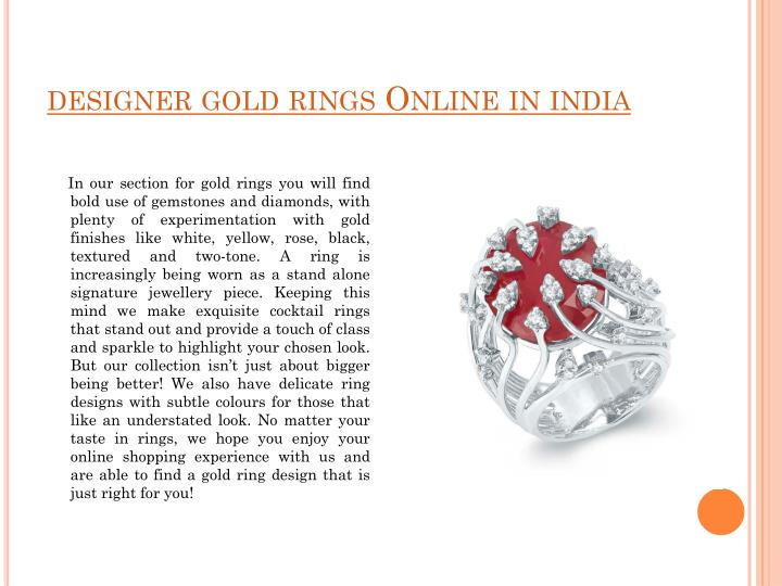 designer gold rings Online in