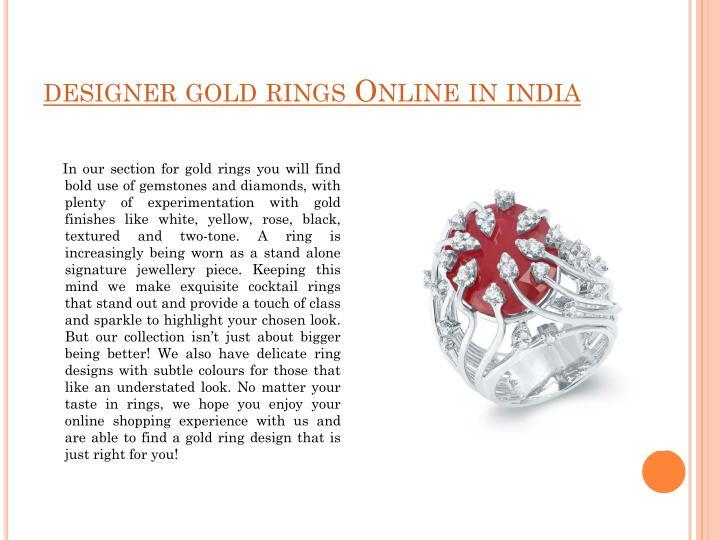 designer gold rings Online in