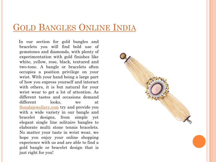 Gold Bangles Online India