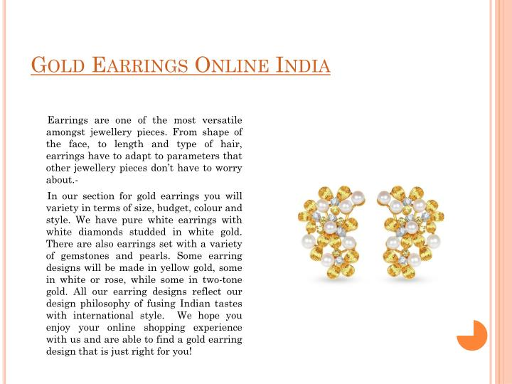 Gold Earrings Online India