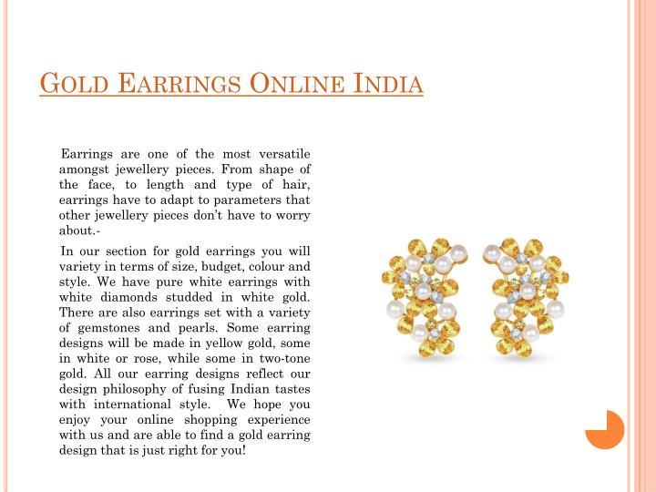 Gold Earrings Online India