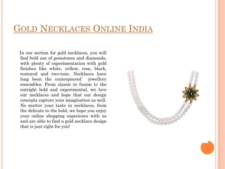 Gold Necklaces Online India