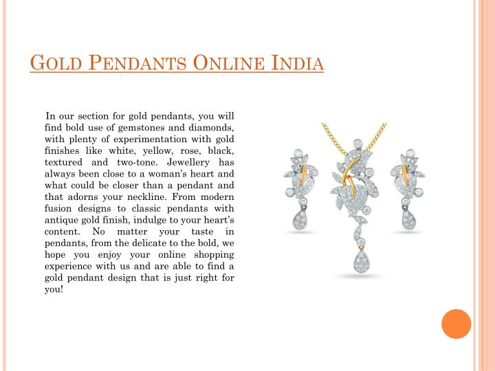 Gold Pendants Online India