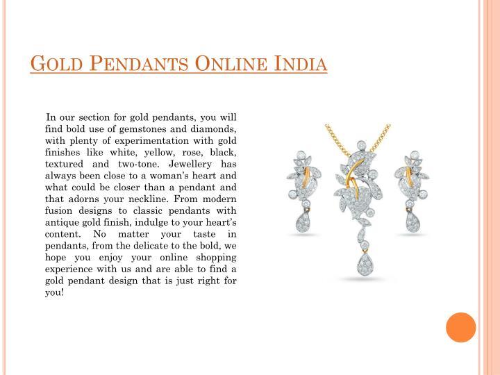 Gold Pendants Online India