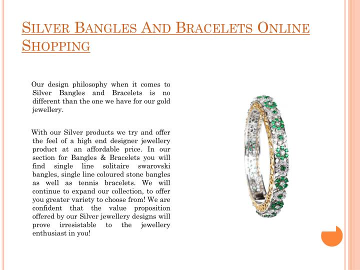 Silver Bangles And Bracelets Online Shopping