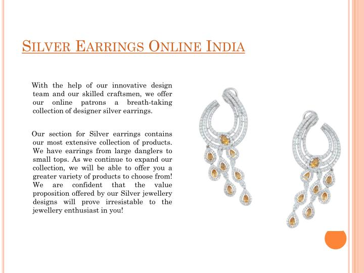 Silver Earrings Online India