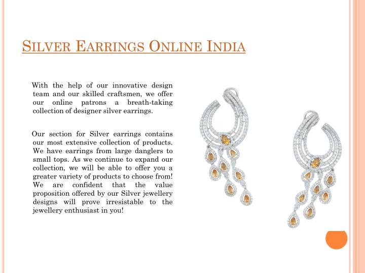 Silver Earrings Online India
