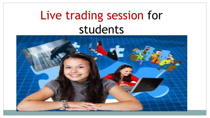 Live trading session