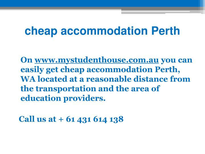 cheap accommodation Perth