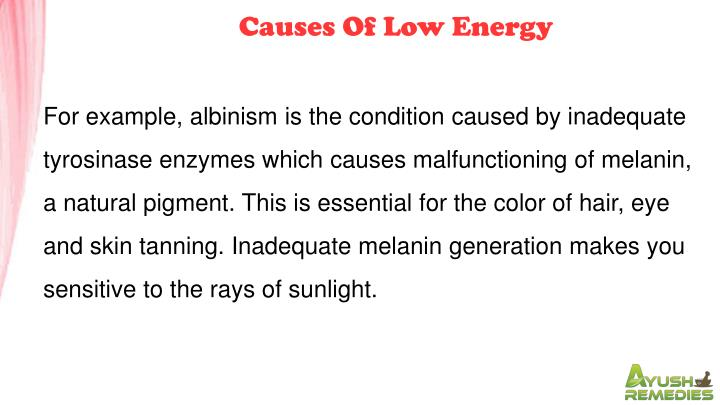 Causes Of Low Energy
