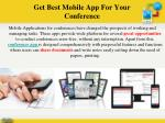 get best mobile app for your conference